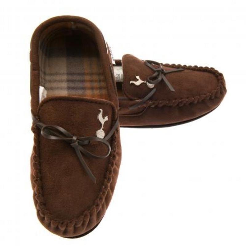 d757d8bec91 46  Tottenham Hotspur Fc Spurs Mens Moccasins Moccasin Slippers UK 11 12 or EU  45 46