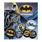 Batman Button Badge Set 6 Piece Lapel Pin Gift Set