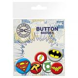 DC Comics Button Badge Collectors Set