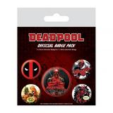 Deadpool Button Badge Set Gift Pack Set