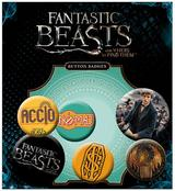 Fantastic Beasts Button Badge Gift Set Collectors Souvenir