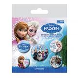 Frozen Button Badge Gift Set Elsa Anna Olaf