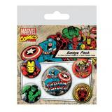 Marvel Comics Button Badge Gift Set
