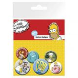 The Simpsons Button Badge Collectors Set