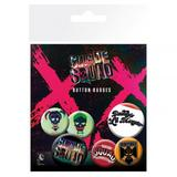 Suicide Squad Button Badge Collectors Set