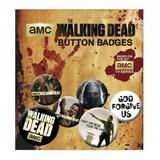 The Walking Dead Button Badge Set 6 Piece Lapel Pin Gift Set
