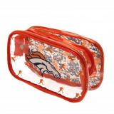 Denver Broncos Clear Pencil Case With Strong Zip