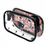 New England Patriots Clear Pencil Case With Strong Zip