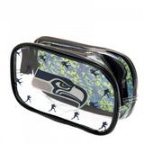 Seattle Seahawks Clear Pencil Case With Strong Zip