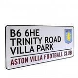 Aston Villa Fc Metal Street Sign TR For Wall Door Window