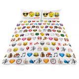 Emoji Reverible Double Quilt Cover Duvet Set WT 2 Pillow Cases