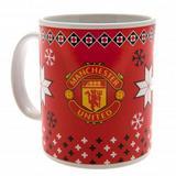 Manchester United Fc Man Utd Christmas Theme Novelty Mug