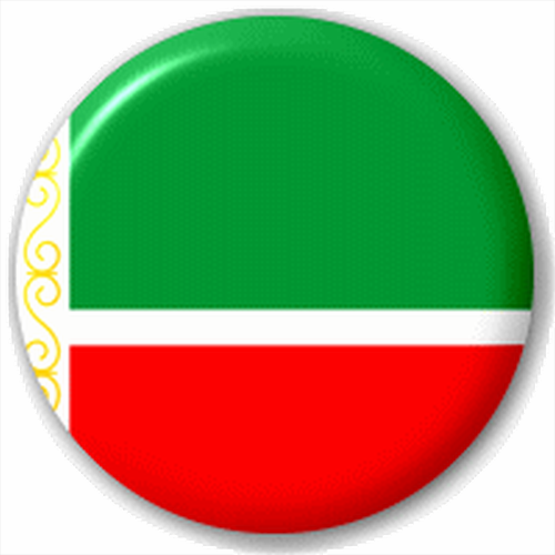 Small 25mm Lapel Pin Button Badge Novelty Chechnya - Chechnyan Flag