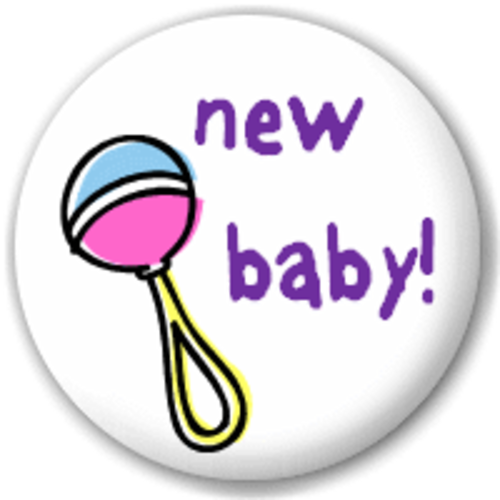 Small 25mm Lapel Pin Button Badge Novelty New Baby!