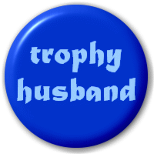 Small 25mm Lapel Pin Button Badge Novelty Trophy Husband