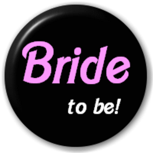Small 25mm Lapel Pin Button Badge Novelty Bride To Be!