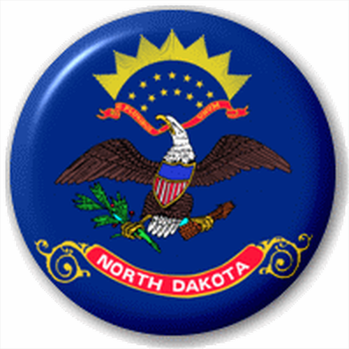 Small 25mm Lapel Pin Button Badge Novelty North Dakota Flag