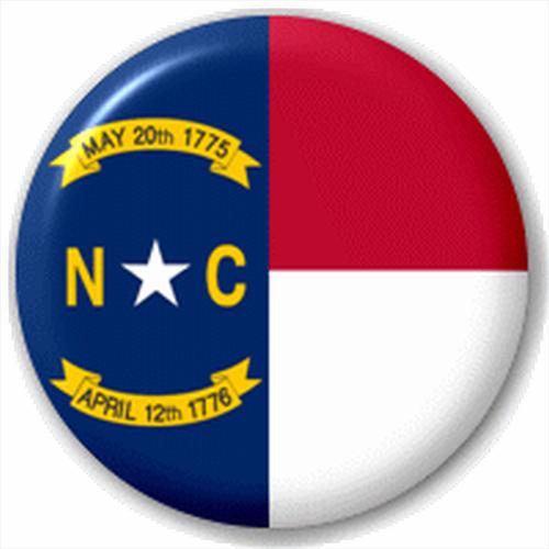 Small 25mm Lapel Pin Button Badge Novelty North Carolina Flag