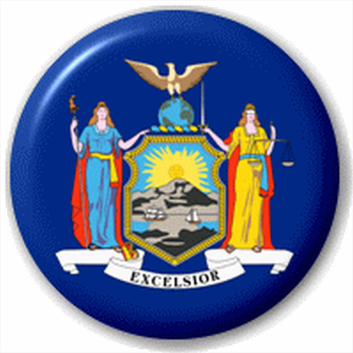 Small 25mm Lapel Pin Button Badge Novelty New York Flag