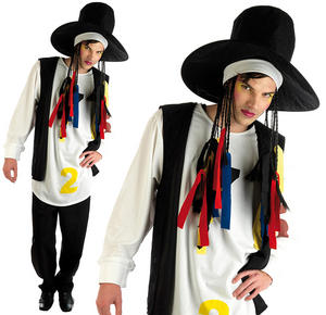 Mens Boy George Fancy Dress Costume Culture Club 80S New Romantic Outfit M-XL