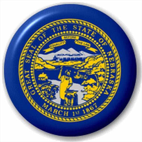 Small 25mm Lapel Pin Button Badge Novelty Nebraska Flag