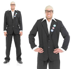 Mens Tv Comic Fancy Dress Costume Harry Hill Tv Burp Comedian Outfit M-XL