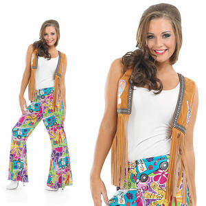 Ladies Hippie Flares Fancy Dress Costume 1970S Hippy Chick Outfit UK 8-30