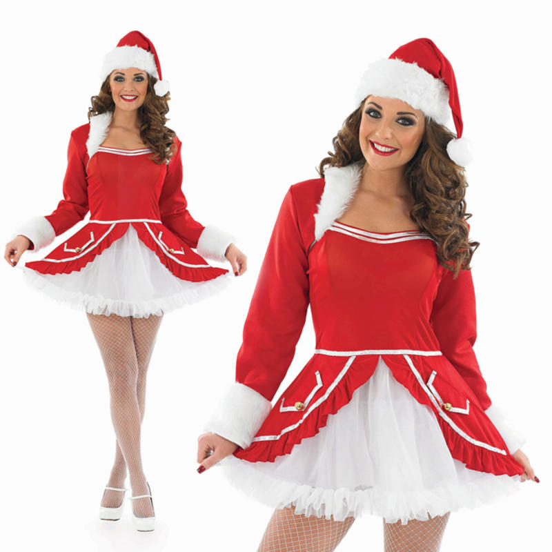 a394f2a8d3b2 Ladies Sexy Fancy Dress Costume Miss Santa Baby Christmas Outfit UK ...