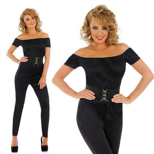 Ladies Black Sandy D Fancy Dress Costume 50S High School Grease Outfit UK 8-30
