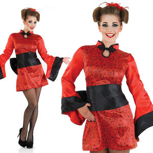 Ladies Sexy Geisha Girl Fancy Dress Costume Japanese Oriental Outfit UK 8-30
