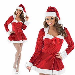 Ladies Miss Clause Fancy Dress Costume Sexy Santa Christmas Outfit UK 8-30