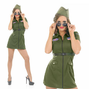 Ladies Aviation Girl Fancy Dress Costume Pilot Outfit Womens UK 8-30