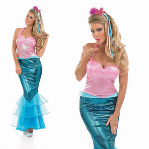 Ladies Little Mermaid Fancy Dress Costume Sexy Ariel Halloween Outfit UK 8-30