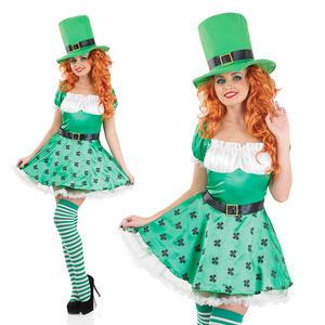 Ladies Sexy Leprechaun Fancy Dress Costume St Patricks Day Outfit UK 8-30