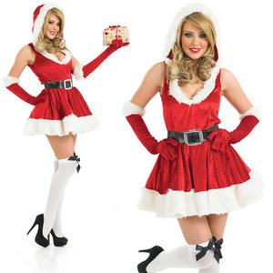 Ladies Sexy Santa Fancy Dress Costume Mrs Clause Santa Christmas Outfit UK 8-30