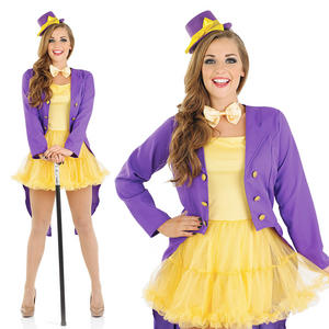 Ladies Sexy Factory Owner Costume Willy Wonka Outfit Book Week UK 8-30