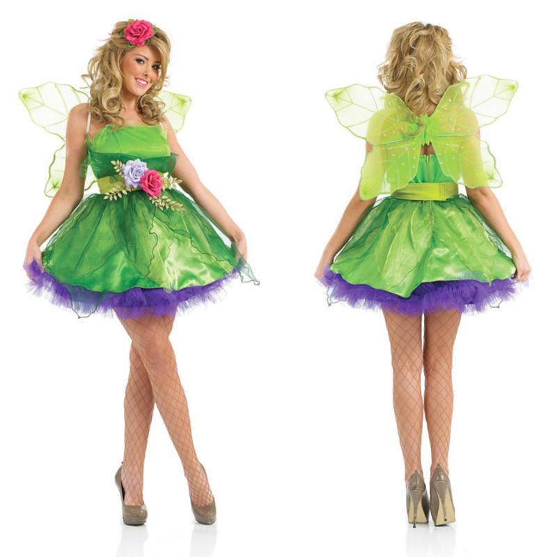 Sexy tinkerbell halloween costume