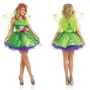 Ladies Sexy Tinkerbell Fancy Dress Costume Pixie Fairy Outfit UK 8-30