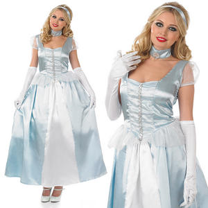 Ladies Cinderella Fancy Dress Costume Fairy Tale Book Week Outfit UK 8-30