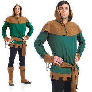 Mens Robin Hood Fancy Dress Costume Prince Of Thieves Book Week Outfit M-XL
