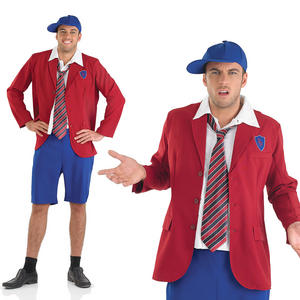 Mens Cheeky School Boy Fancy Dress Costume Stag Party Outfit M-XL