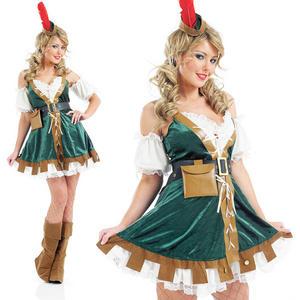 Ladies Sexy Robin Hood Fancy Dress Costume Fairytale Book Week Outfit UK 8-30