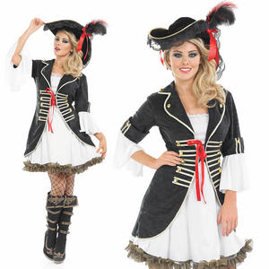 Ladies Buccaneer Girl Fancy Dress Costume Pirate Halloween Outfit UK 8-30