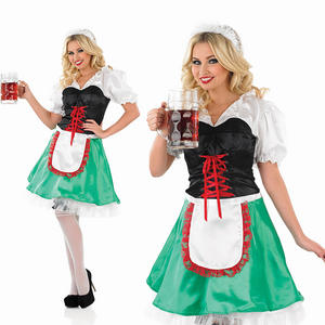 Ladies Oktoberfest Fancy Dress Costume Bavarian Waitress German Barmaid UK 8-30