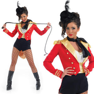 Ladies Sexy Circus Ringmaster Fancy Dress Costume Lion Tamer Outfit UK 8-30