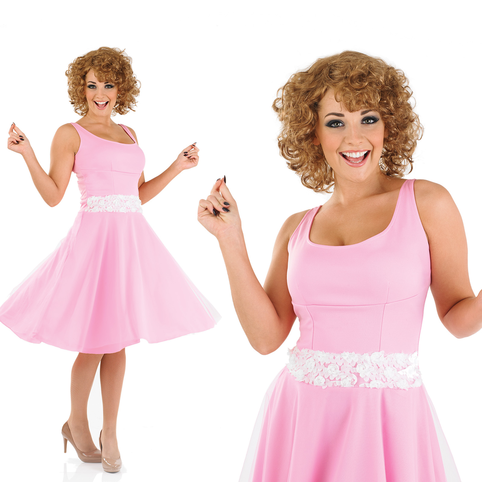 La s Pink Baby Fancy Dress Costume Dirty Dancing 80S Outfit UK 8