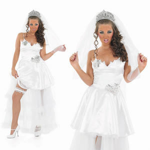 Ladies Sexy Big Fat Gypsy Wedding Fancy Dress Costume Bride Outfit UK 8-30