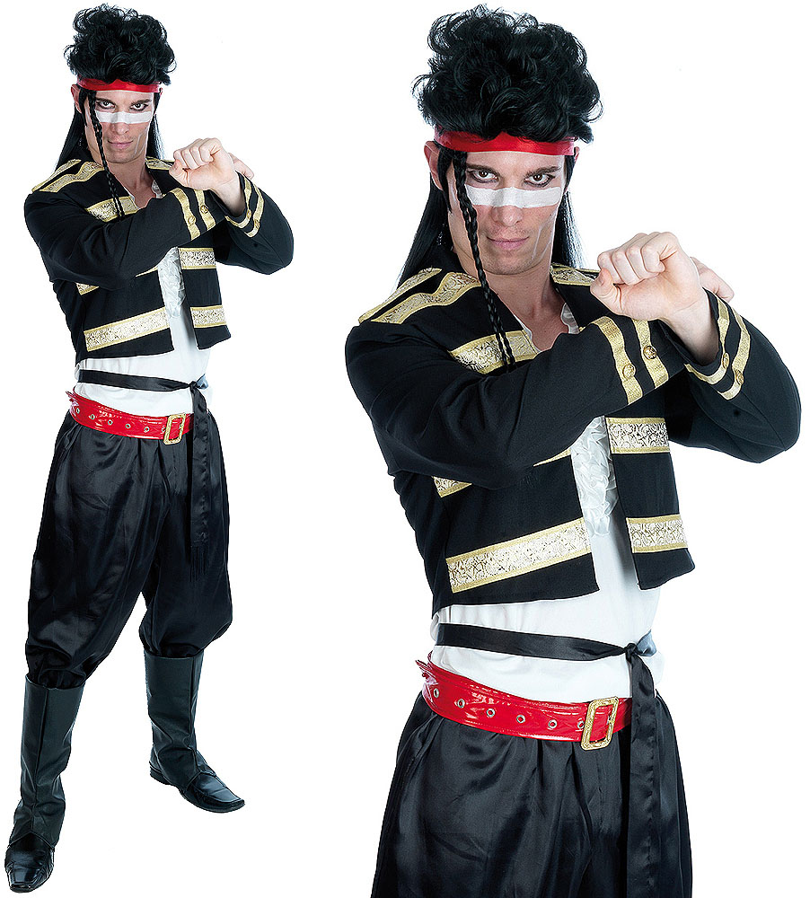Mens New Romantic Fancy Dress Costume Adam Ant 80S Pop Star Outfit ...