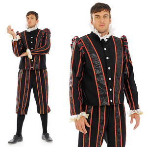 Mens Tudor Earl Fancy Dress Costume Blackadder Outfit Medieval M-XL