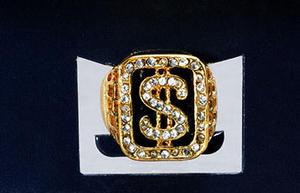 Dollar Sign Gold Pimps Rung Alig G Big Daddy Gangster Jewellery Fancy Dress